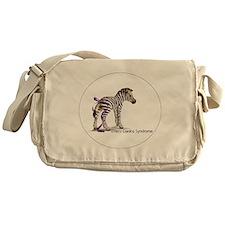zebra with ribbon Oval Messenger Bag