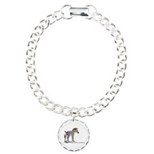 zebra with ribbon Oval Bracelet