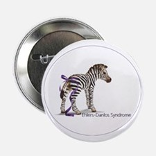 """zebra with ribbon Oval 2.25"""" Button"""