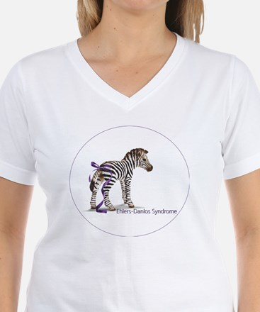 zebra with ribbon Oval Shirt