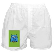 Card Aqua Owl green Boxer Shorts