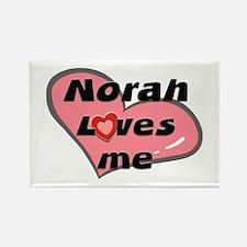 norah loves me Rectangle Magnet