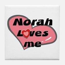 norah loves me  Tile Coaster