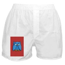 Card Aqua Owl red Boxer Shorts