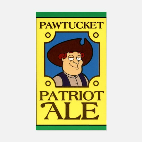 Pawtucket Patriot Ale Sticker (Rectangle)