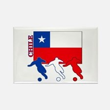 Chile Soccer Rectangle Magnet