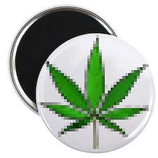 pixel leaf Magnet