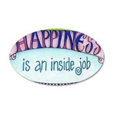 Happiness 35x21 Oval Wall Decal
