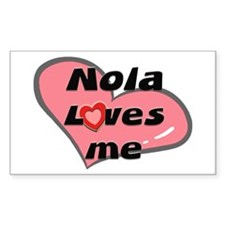 nola loves me Rectangle Decal