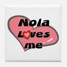 nola loves me  Tile Coaster