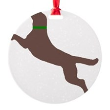 chocolate dog Ornament
