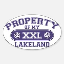 lakelandterrierproperty Sticker (Oval)