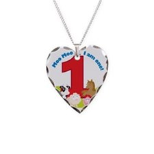 Barnyard1stBirthdayV2 Necklace Heart Charm