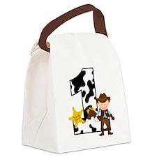 Cowboy1stBirthday Canvas Lunch Bag
