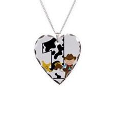 Cowboy1stBirthday Necklace Heart Charm
