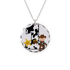 Cowboy1stBirthday Necklace Circle Charm