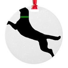 black dog new pocket Ornament