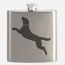 black dog new pocket Flask