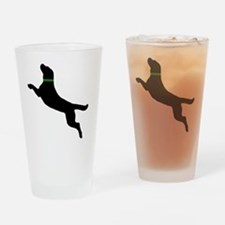 black dog new pocket Drinking Glass