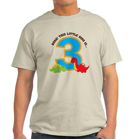 RoarDinosaur3rdBirthday Light T-Shirt