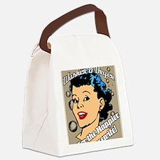 HAPPIER-HOUSEWIFE-9X12-framed-pri Canvas Lunch Bag