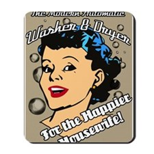 HAPPIER-HOUSEWIFE-9X12-framed-print-temp Mousepad