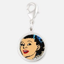 HAPPIER-HOUSEWIFE-9X12-framed- Silver Round Charm