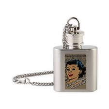 HAPPIER-HOUSEWIFE-9X12-framed-print Flask Necklace