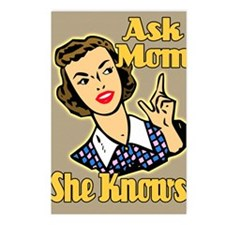 ASK-MOM-9X12-framed-print Postcards (Package of 8)