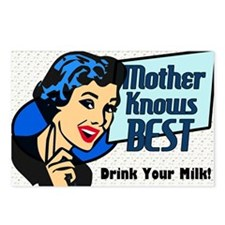 MOTHER-KNOWS-BEST-14x10_L Postcards (Package of 8)