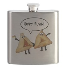 Happy Purim Hamantashen Flask