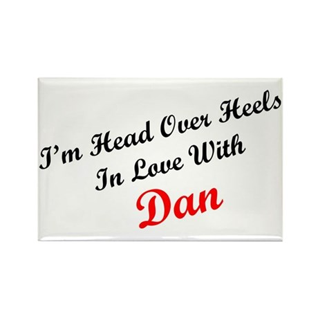 In Love with Dan Rectangle Magnet