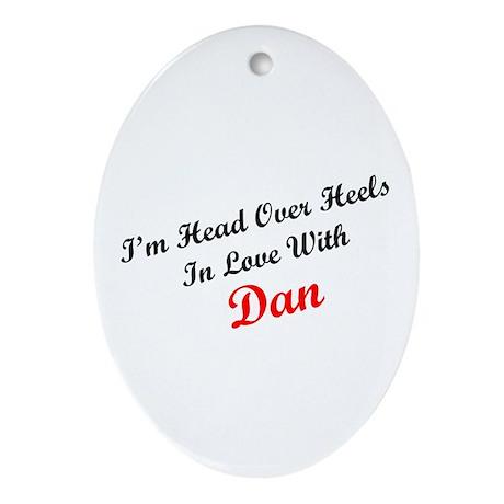 In Love with Dan Oval Ornament
