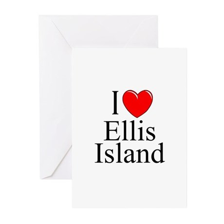 """I Love Ellis Island"" Greeting Cards (Pk of 10"