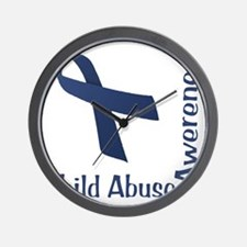 Child_abuse_Awareness_wht Wall Clock