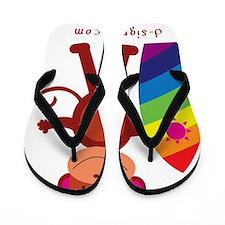 Monkey Surfer Flip Flops