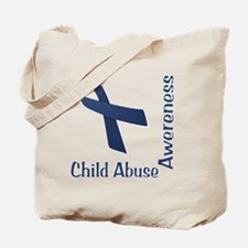 Child_abuse_Awareness_wht Tote Bag