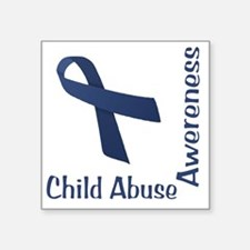 "Child_abuse_Awareness_wht Square Sticker 3"" x 3"""