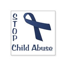 "Child_abuse Square Sticker 3"" x 3"""