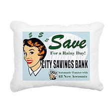SAVE-FOR-A-RAINY-DAY-14x Rectangular Canvas Pillow
