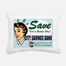 SAVE-FOR-A-RAINY-DAY-14x Rectangular Canvas Pillow