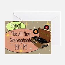 stereophonic-hi-fi-14x10_LARGE-FRAME Greeting Card