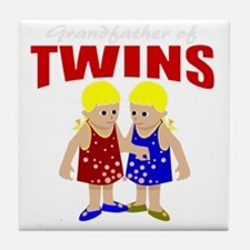 Grandfather of twins Tile Coaster