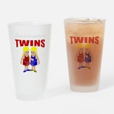 cute maternity twins Drinking Glass