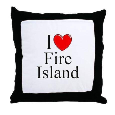 """I Love Fire Island"" Throw Pillow"