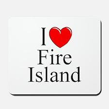 """I Love Fire Island"" Mousepad"