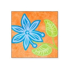 "puzzleBlueFlower Square Sticker 3"" x 3"""