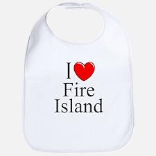 """""""I Love Fire Island"""" Bib"""