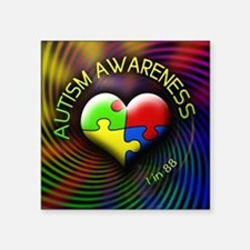 "autismawareness-1in88-round Square Sticker 3"" x 3"""