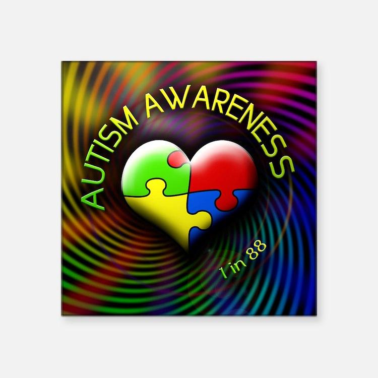 "autismawareness-1in88-round Square Sticker 3"" x 3"""